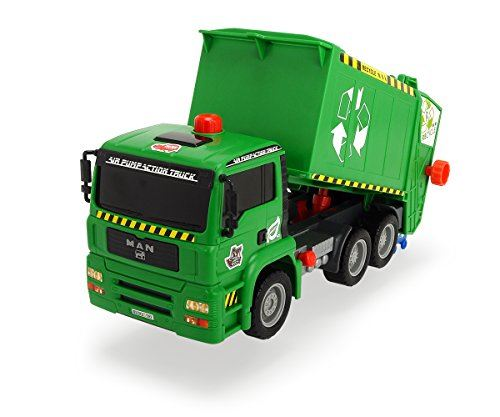 DICKIE TOYS 12 Air Pump Action Garbage Truck Vehicle (Styles May Vary)
