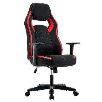 Chaise de Gamer Ergonomique, Fauteuil de Bureau Pivotant, Dossier Haut, Assis Rembourré, Hauteur Réglable (Rouge) IntimaTe WM Heart
