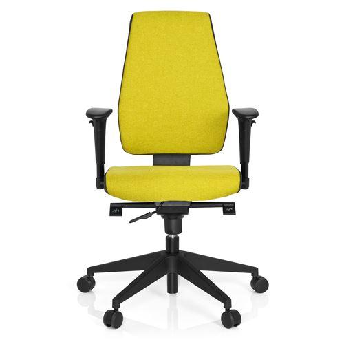 Chaise de bureau / Chaise pivotante PRO-TEC 500 tissu gris foncé/vert hjh OFFICE