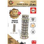 Educa – Puzzle 3D en Bois Torre di Pisa 32 pièces (17305)