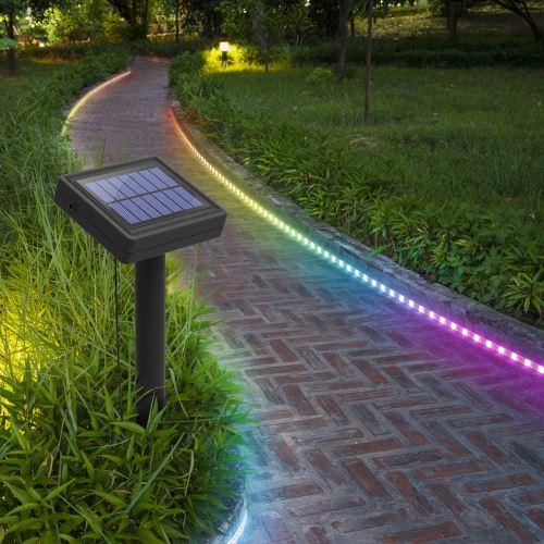 Balise strip LED solaire - 3 m RVB -