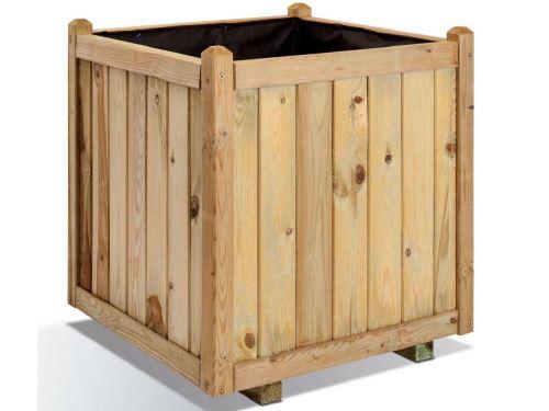 Jardinière bois carrée Vendôme 135L Jardipolys