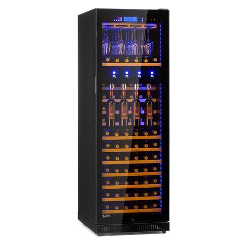Klarstein First Class 129 Pro Cave à vin réfrigérée 430L/129 bouteilles - 4 distributeurs - Noir