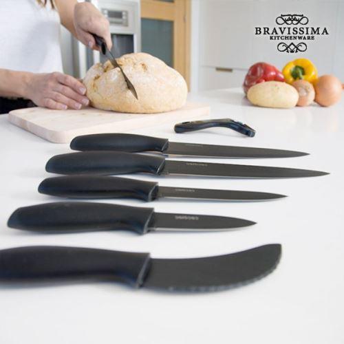 Couteaux en céramique professionnels en acier inoxydable et éplucheur (7 pièces) - Couteau cuisine