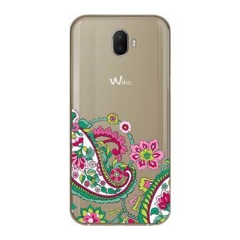 Coque Wiko WIM LITE fleur paisley mandala doodling transparente