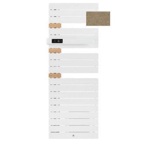 Sèche-serviettes connecté soufflant Allure 3 classique - Mât à droite - 500+1000W - Brun sable