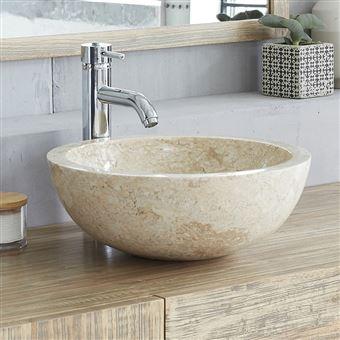 Vasque En Marbre Beige Installations Salles De Bain