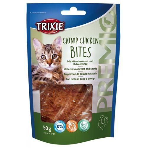 Bouchées de poulet à l'herbe à chat 50 gr pour chat