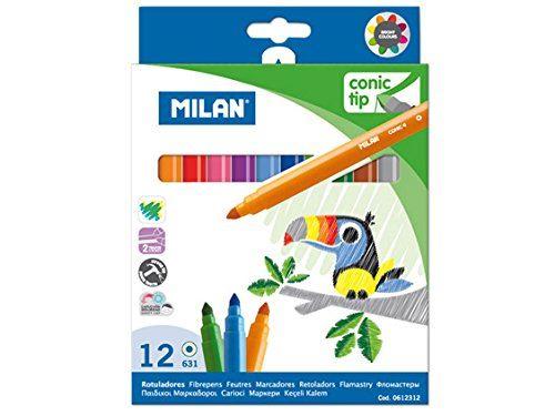 Milan 0612312 Boîte de 12 Stylos Coniques à Base d'eau