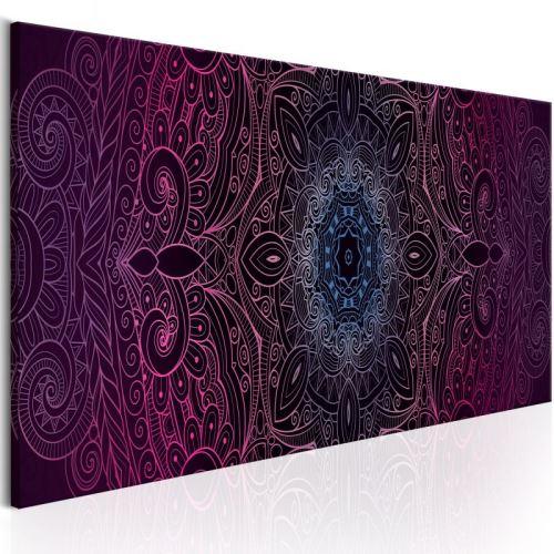 Tableau - Purple Mandala .Taille : 150x50