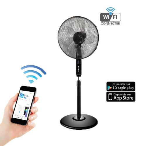 Optex ventilateur sur pied connecte Wifi noir