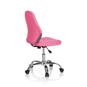 Chaise De Bureau Enfant Pivotante KIDDY STRIPE Tissu Gris Rose Hjh OFFICE