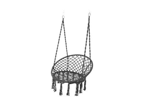 Chaise hamac avec franges - gris