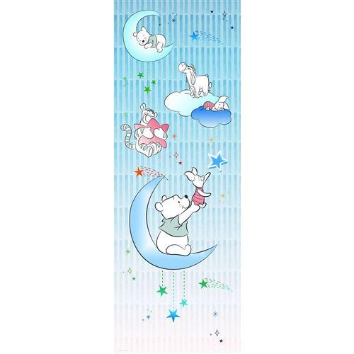 Papier Peint intissé Disney Winnie l'ourson Porcinet dans les étoiles 100 cm x 280 cm
