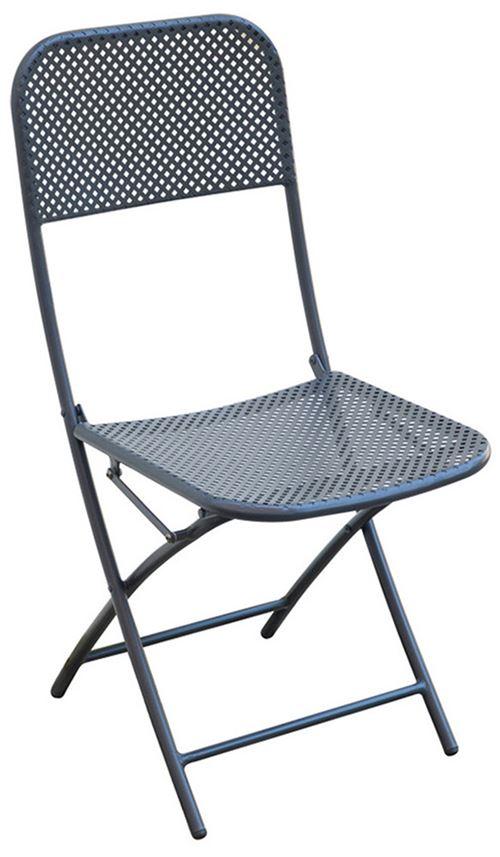 Chaise de jardin coloris gris anthracite - Dim : 40 x 57 x 89 cm - A USAGE PROFESSIONNEL. -PEGANE-
