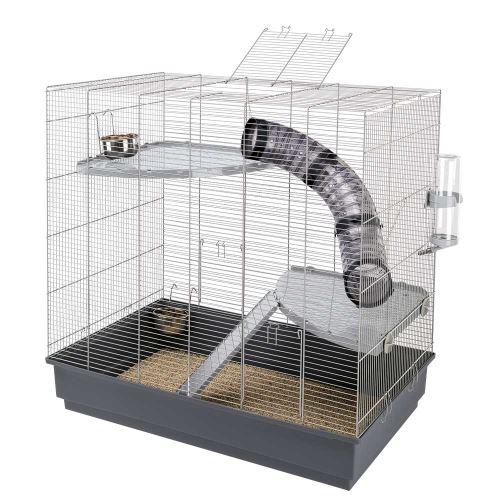 JENNY Cage pour rats 80 x 50 x h 79,5 cm Gris