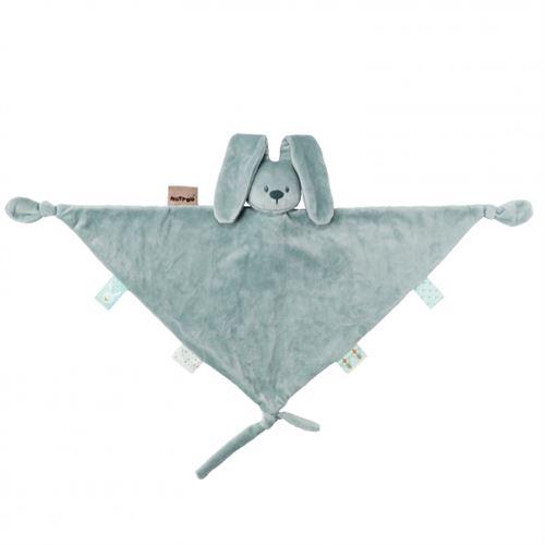 Maxi doudou vert de gris lapidou - nattou