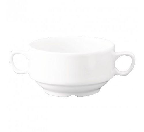 Bol à soupe à anses blanc churchill 398ml