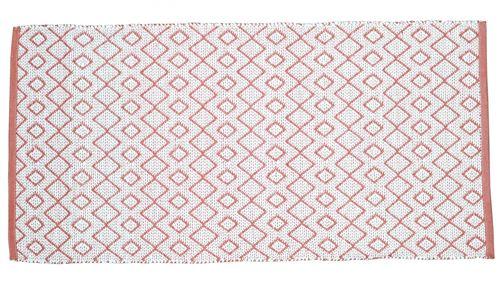 Tapis extérieur et intérieur rouge et blanc - Solys - Rouge