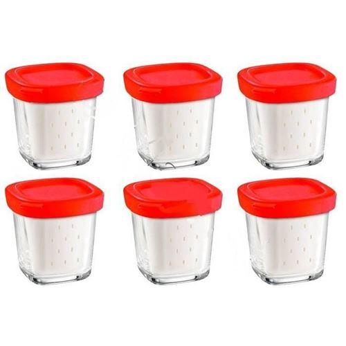 Pots de yaourt par 6 pour Yaourtiere Seb