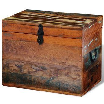 vidaXL Coffre de stockage en bois recyclé solide - Mobilier de ...