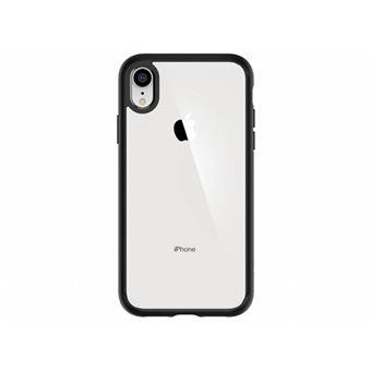 Spigen Ultra Hybrid Series Coque de protection pour telephone portable polycarbonate polyurethanne thermoplastique TPU noir mat pour Apple iPhone XR