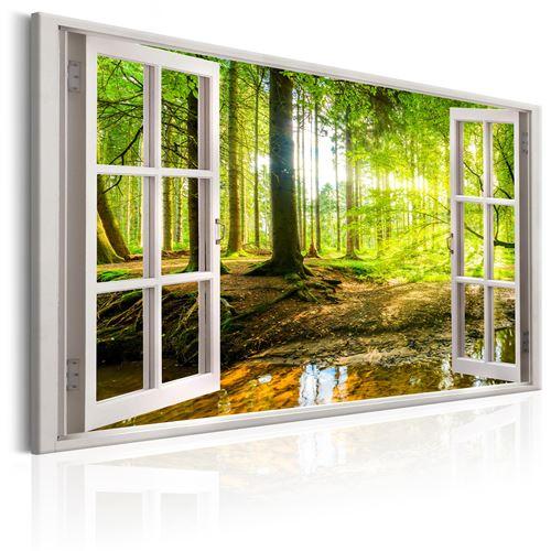 Tableau - window: view on forest - artgeist - 90x60