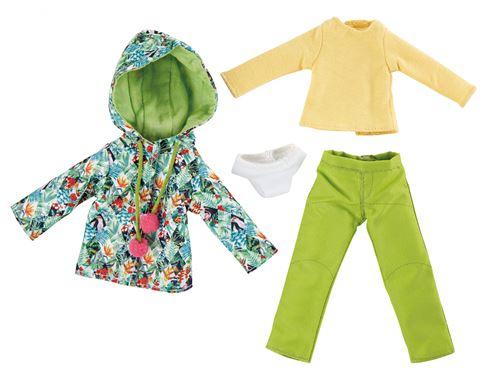 Käthe Kruse Ensemble 4 pièces de vêtements d'hiver pour poupées adolescentes tropicales
