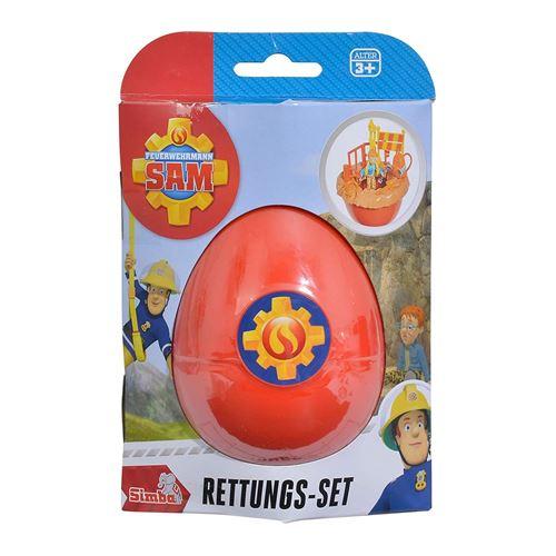 Simba Toys 109251030 Set de sauvetage - Sam Pompier - Norman dans l'œuf