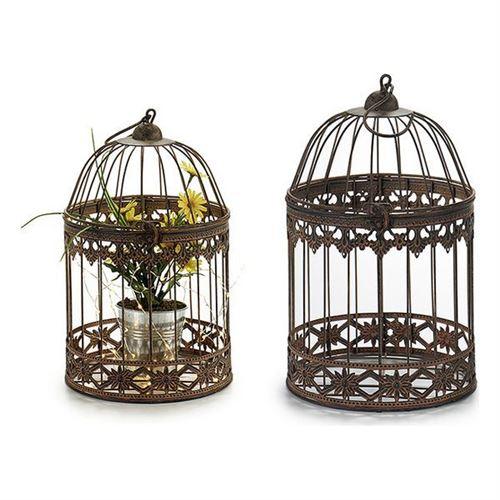 cage gift decor métal (19 x 30 x 19 cm)