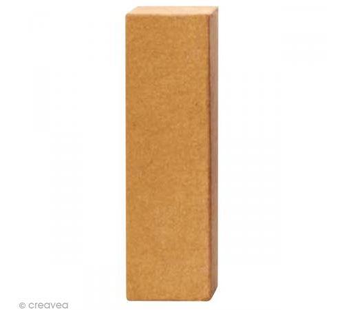 Lettre en carton I qui tient debout - 17,5 x 5,5 x 5,5 cm