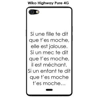 Onozo - Coque Wiko Highway Pure design Citation