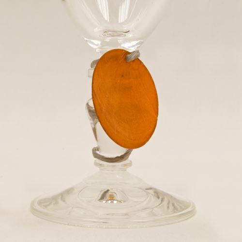 Lot de 60 Disques aspect coquillage coloris Orange - Diam : 4 cm