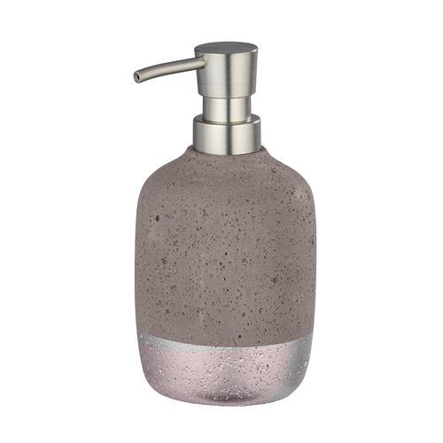 Wenko - Distributeur de savon design Mauve - Gris rosé - Mauve - Gris