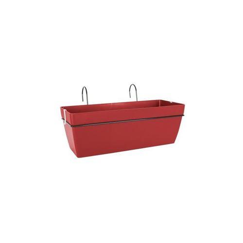artevasi kit jardiniere capri - 12,8 l - 50,5 x 30,5 x 18,5 cm - rouge foncé