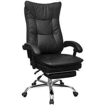 bureau pieds Noir repose inclinable Chaise de vidaXL avec LqSUVpGMz