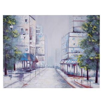 Charmant Tableau Peinture à Huile, Ville, Peint à La Main à 100%, Toile De Décoration  Murale XL ~ 120x90cm   Achat U0026 Prix | Fnac
