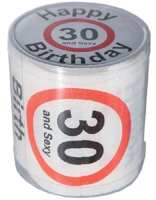 Papier toilette Happy Birthday - 30, dans boîte PVC