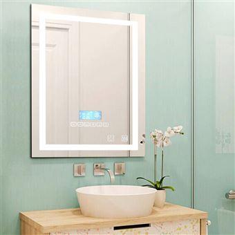 Miroir Salle Bain avec éclairage Intégré LED 80*60cm - Achat ...
