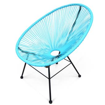 Fauteuil Acapulco chaise oeuf design Turquoise Alice\'s Garden ...
