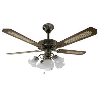 Ventilateur de plafond Reversible 5 Pales et Lumières 3