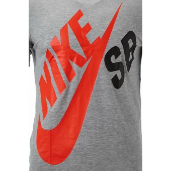 Nike SB Big Logo Junior T shirt en Gris NSB6605S K2H
