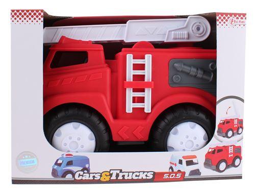 Toi-Toys Cars & Trucks voiture de pompiers rouge 32 cm
