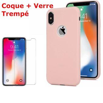 coque iphone xr rose souple