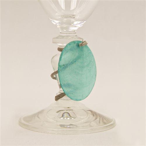 Lot de 6 Disques aspect coquillage coloris Turquoise - Diam : 4 cm