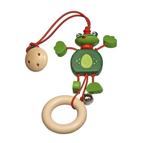 Walter hochet Froggi bois 24 cm vert