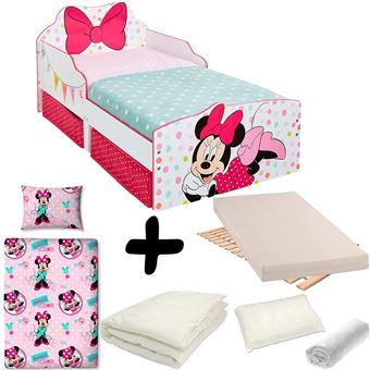 Bebegavroche Pack Complet Lit Noeud Minnie Tiroirs Disney Lit