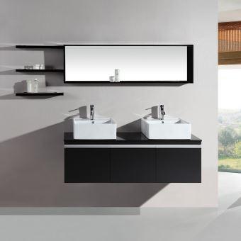 Le Nautilus Wenge Ensemble Salle De Bain 2 Vasques Et 2 Miroirs