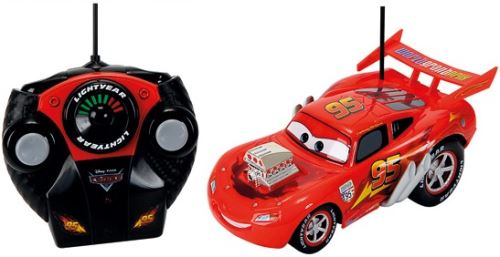 Cars rc rouge flash mcqueen - dickie - voiture radiocommandée disney