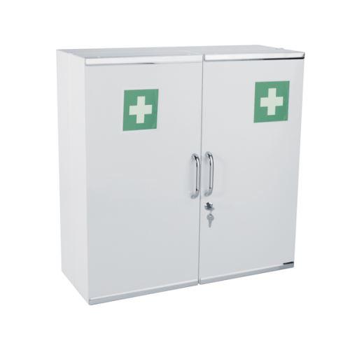 rangement salle de bain - MEDIAL - Blanc - 9 Kg - acier
